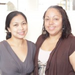 Baby Nursery Director, Elsita Mendez (right) with Nursery Assistant Jane Belga