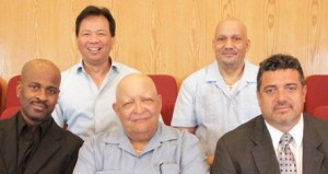 From Left: Louis Johnson, Cesar Lopez, Paul, Cleveland, Willie Reyes, James Bitakis