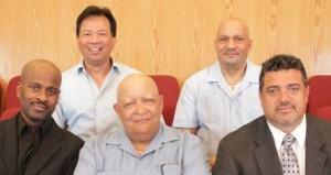 From Left: Louis Johnson, Cesar Lopez, Paul, Cleveland, Willie Reyes, James Bitakis